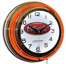 """Peterbilt Trucks Class Pays Logo 15"""" Red Double Neon Wall Clock Garage Man Cave"""