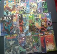 Alien Legion 1984: 2-3, 7-11, 1987: 1-2, 5-7, 10-11, 13, Lot of 21 comics, Epic