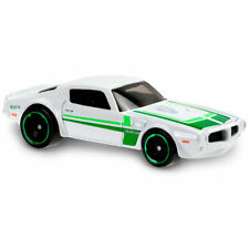 Hot Wheels DHX32 '73 PONTIAC FIREBIRD WHITE AND GREEN SHORT CARD MUSCLE MANIA