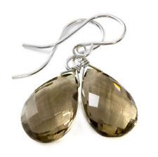 Natural Smoky Quartz Dangle Earrings925 Sterling Silver EarringsSmoky Quartz EarringsAnniversary GiftBridesmaid GiftGift for Women.