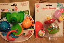 2 baby toys, bead beaker rattle & safari strainers, bath toy.  Bnwt.