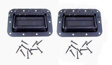 2 Penn Elcom Metal H7154K Recessed Speaker Case Spring Load Flip Handle & Screws