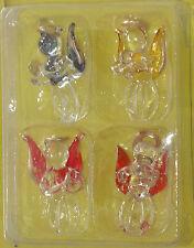 Bomboniera angelo set 4 angioletti in vetro altezza cm 3,5 colorati assortiti