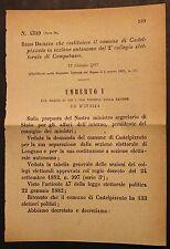 REGIO DECRETO - Costituito in sezione autonoma elettorale Castelpizzuto - 303
