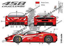 "[FFSMC Productions] Decals 1/43 Ferrari F-458 Challenge ""Présentation"""