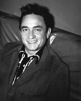 1958 American Singer JOHNNY CASH Glossy 8x10 Photo Country Music Print Portrait
