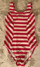 Hanna Andersson Hot Pink and White Striped Swimsuit size 150 (12)