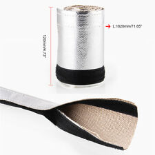 Silver Exhaust Pipe Insulation Thermal Heat Wrap  Insulated Wire Hose Cover