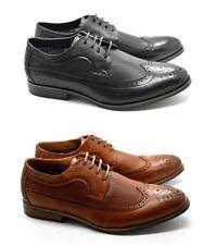 Zapatos De Cuero nuevo Para hombres Clásico Imitación Cuero Puntera en Punta Formal Oxford