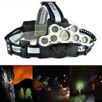 150000LM 9& 7x T6 LED Headlamp Rechargeable  Headlight Torch Lamp Flashlight
