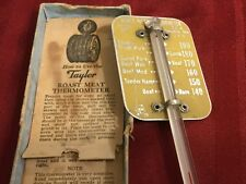 Taylor Roast Meat Thermometer w/Original Box Bottom & Instructions Vintage USA