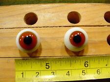 976 un par vintage esférico masivo muñeca cristal ojo un alambre círculo de 15mm