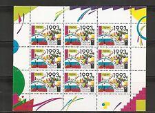 Russia SC # 6107a New Year 1993. Souvenir Sheet .MNH