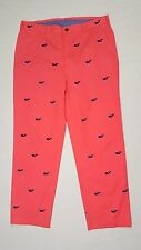 Brooks Brothers Clark Pink Embroidered Whale Chino Pants 36 x 30