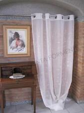 Tenda arredamento casa AMBRA, 1 telo con anelli, cm 140 x h.280 classica ricamo