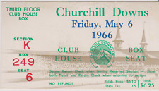 RARE VINTAGE HORSE  RACING ADMISSION TICKET CHURCHILL DOWNS RACETRACK 1966