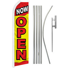 Now Open Advertising Swooper Flutter Feather Flag Kit We're Open Grand Opening
