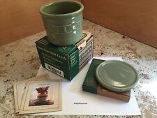 New ListingLongaberger Pottery Wt One Pint Crock & Coaster/Lid Set in Sage Green Orig Box