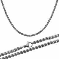 Gliederkette Gedreht Edelstahl Halskette Armband Für Kettenanhänger Silbern