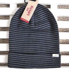 LEVI STRAUSS & Co. Black Grey Longer Slouchy BEANIE HAT Toque UNISEX LEVI'S