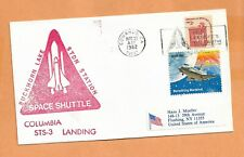 SHUTTLE COLUMBIA STS 3 LANDING MAR 30,1982 EAFB SPACE COVER