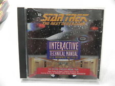 Vintage Star Trek The Next Generation Interactive Technical Manual (PC,2001)