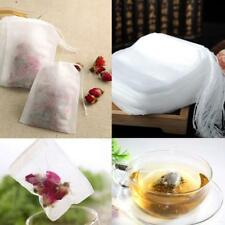 10pcs Teebeutel Teetüte Teefilter Säckchen Leer Befüllbar Filter Baumwolle