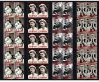 LUCILLE BALL, I LOVE LUCY TV ICON SET OF 4 MINT VIGNETTE STAMPS