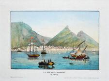 c1860 Kapstadt Cape Town Südafrika South Africa Kolorierte eiweißgehöhte Litho