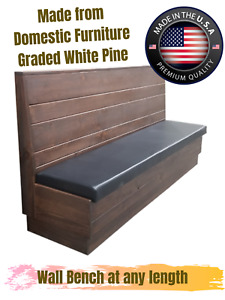 Restaurant Wooden Wall Bench, Sturdy and Beauty Made in America
