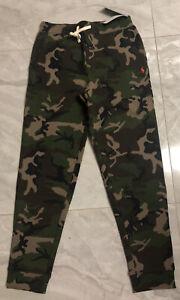 Polo Ralph Lauren Big Boys Camo Fleece Jogger Pant Green Camo Sz L (14-16) - NWT