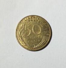 50 centimes LAGRIFFOUL 1963 col 4 plis Num4