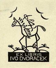 Cervantes, Don Quixote, Ex libris Bookplate by V. Paulus, 1941