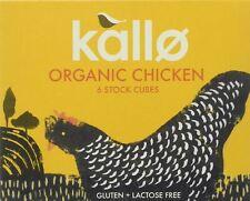 Kallo Organic poulet 6 Stock Cubes - 66 g