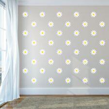 Daisies Printed Wall Decals - Printed Flowers Nursery Kids Room Bedroom Decor