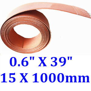 "0.6"" X 39"" 15 X 1000mm 100W Strip Pipe Tube Heating Belt CE UL Silicone Heater"