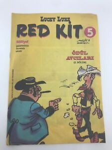 LUCKY LUKE #5 Turkish Comic Book 1990s VERY RARE Morris RED KIT