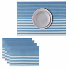 Table Placemats Washable Vinyl Woven Table Mats, Placemats for Dining Table 4pcs