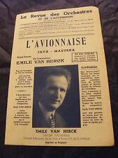 Partition L'avionnaise Emile Van Herck Java Mazurka