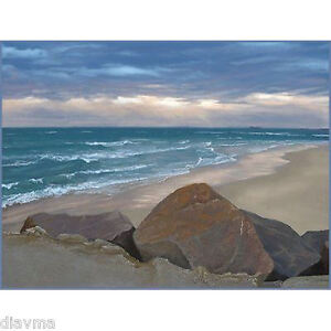 * © ART - Australian Beach Seascape Newcastle Waves Original artist print by Di
