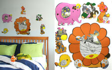 Mirror Reflections Lion Elepha Wall decor Decal Stickers Kids Room Nursery Decor