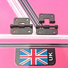 (pair) black lift off hinges / hook over hinges for flight case heavy duty