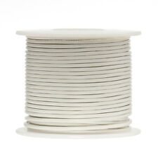 """22 AWG Gauge Solid Hook Up Wire White 250 ft 0.0253"""" UL1007 300 Volts"""