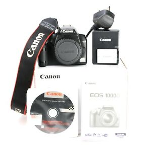 Canon EOS 1100D DSLR Camera - Body Only - Boxed + Canon Battery & Charger -VGC