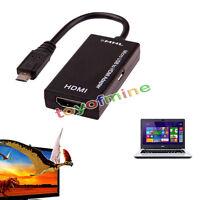 ADAPTADOR CONECTOR MHL MICRO USB A HDMI HEMBRA HDTV PARA GALAXY S2 SII GT i9100