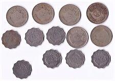13 Iraq Kingdom Coins 6x100 Fils 1972,1x10 Fils World Coin 1972 & 6x10 Fils 1975