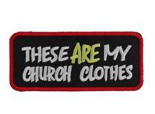 EMBROIDERED PATCH CHURCH CLOTHES BIKE VEST CAP HAT JACKET HELMET HARLEY HONDA R1