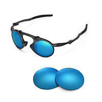 New Walleva Polarized Ice Blue Replacement Lenses For Oakley Madman Sunglasses