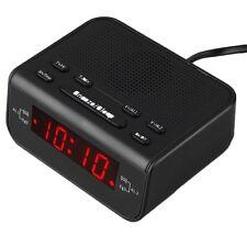 Digital FM Alarm Clock Radio With Dual Alarm Sleep Timer LED Red Time Display F7