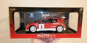Autoart 1/18 Racing Divsion WRC Rally Peugeot 206 Richard Burns Extremely Rare
